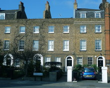Lambeth, Georgian terrace on Lambeth Road, London © Anthony O'Neil